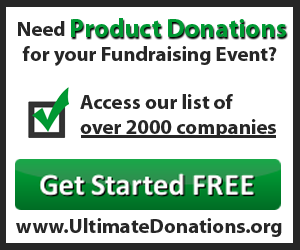 List of companies who donate products to fundraisers