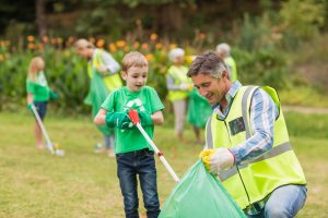 all saints day trash cleanup