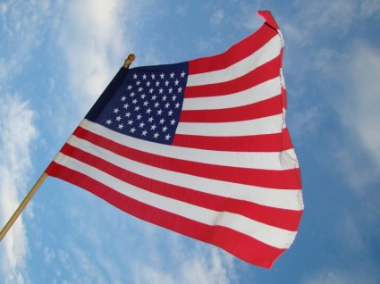 American flag fundraising picture