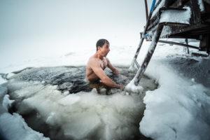 Ice Hole Swim