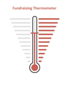 Fundraising Thermometer With Blank Gradients