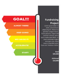 Goal Setting Fundraising Project Thermometer