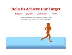 Marathon Fundraising Thermometer and Goal Chart