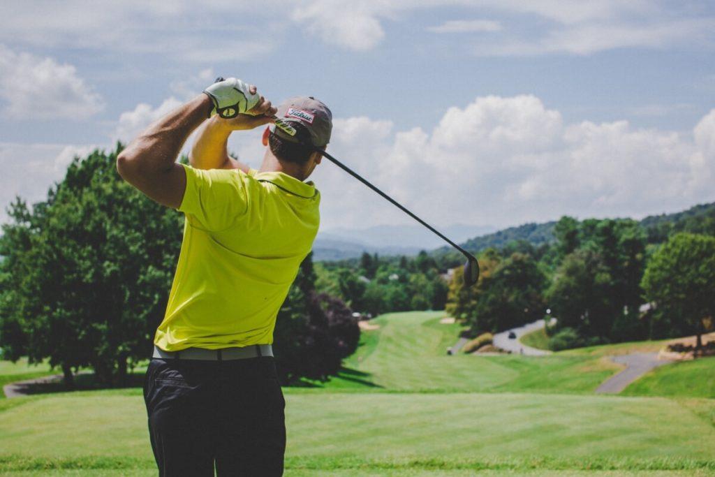 Man Playing Golf Daylight