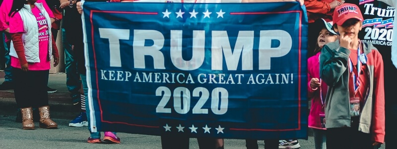 Trump Fundraising Stats and Facts Keep America Great Again Banner