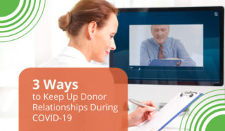 Keep Up Donor Relationships During COVID-19